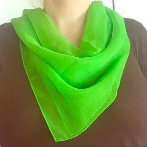 Vintage Lady Heritage vibrant lime green scarf